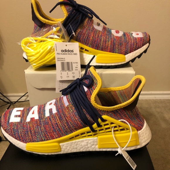 Adidas Pharrell Williams multi color size 9.5